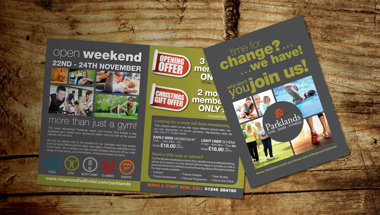 Parklands Health and Fitness Club - Leaflets